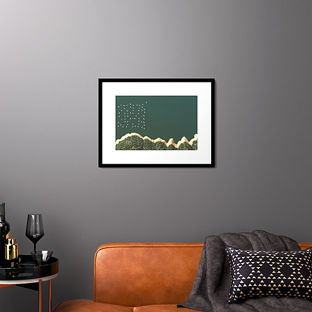 """reservoir houseboats with black frame 25.5""""x19.5"""""""