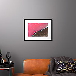 "spiral jetty with black frame 25.5""x19.5"""