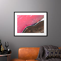 "spiral jetty with black frame 37.5""x27.5"""