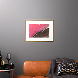 "spiral jetty with gold frame 25.5""x19.5"""