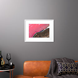"spiral jetty with white frame 25.5""x19.5"""