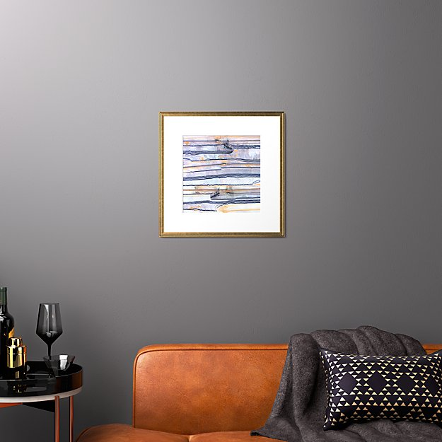 """strip mining with gold frame 19.5""""x19.5"""""""