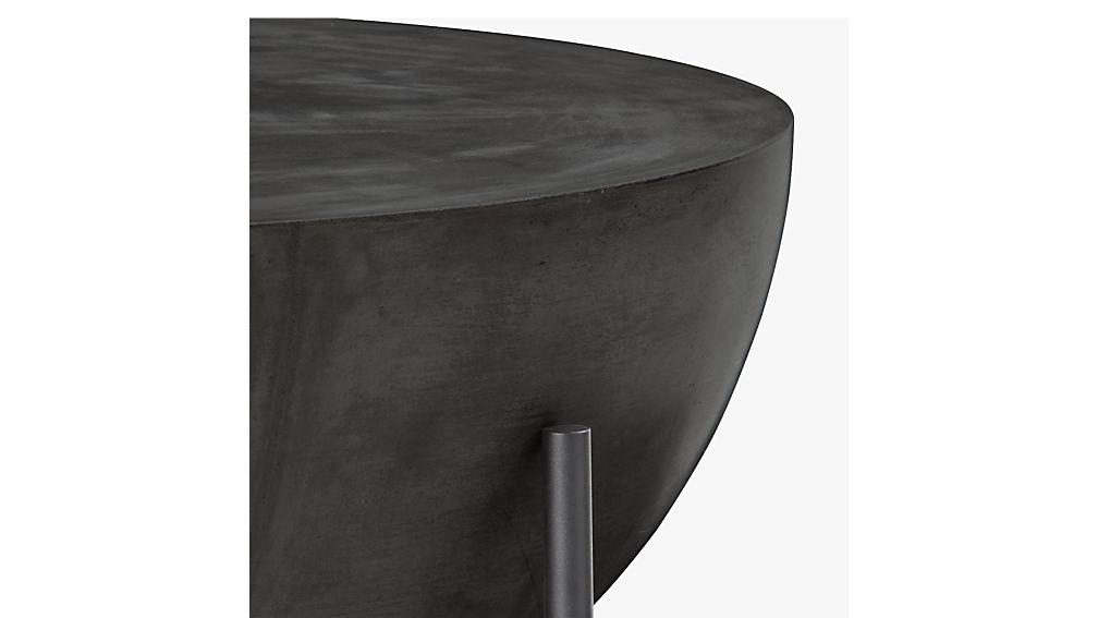 Darbuka Round Black Coffee Table Cb2