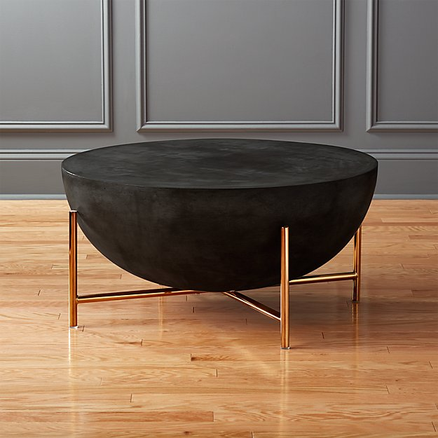 darbuka brass coffee table CB2