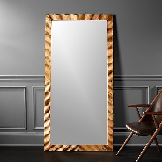 Darron wood floor mirror 36 x72 reviews cb2 for Floor mirrors for sale