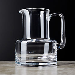 Dawn Glass Pitcher with Handle