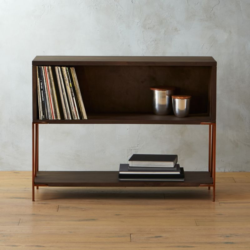 Dean Record Cabinet Console In Media Storage Reviews Cb2