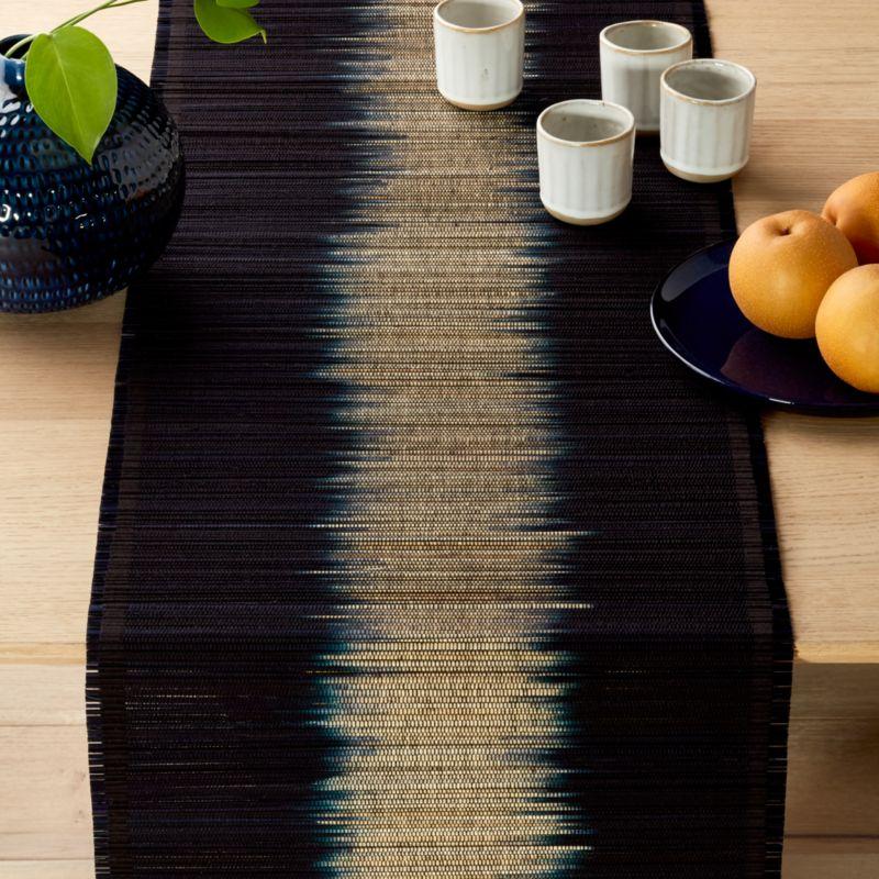 Decibel Black Seagrass Table Runner Cb2