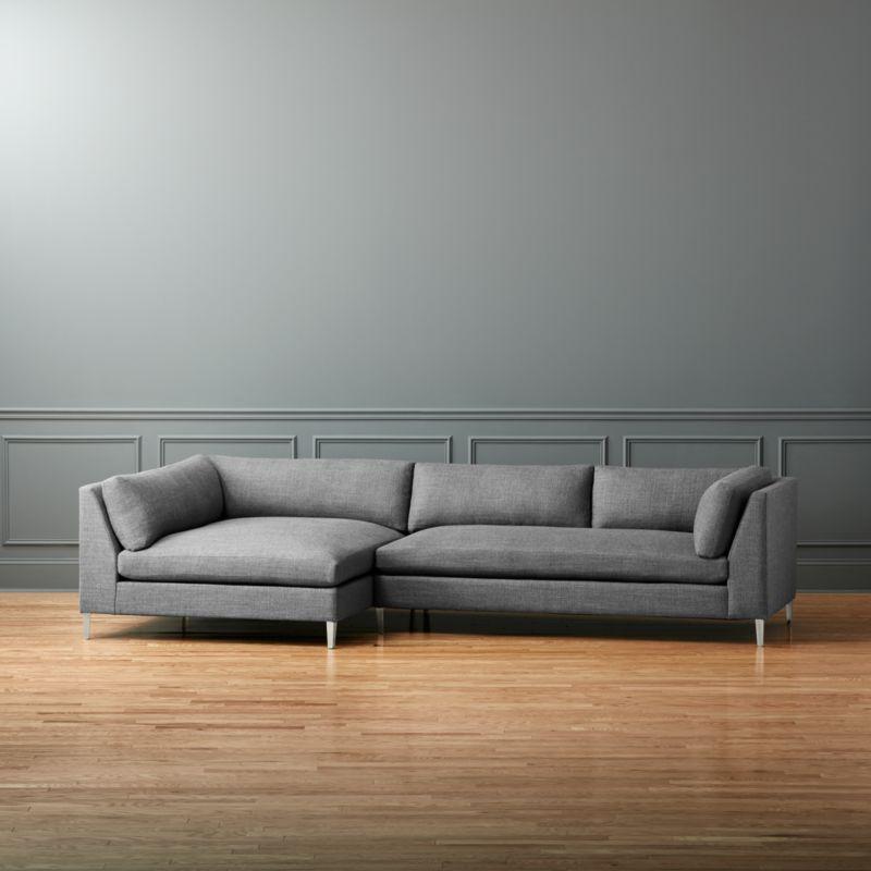 Decker 2 piece sectional sofa alpha granite cb2 for Decker 2 piece sectional sofa