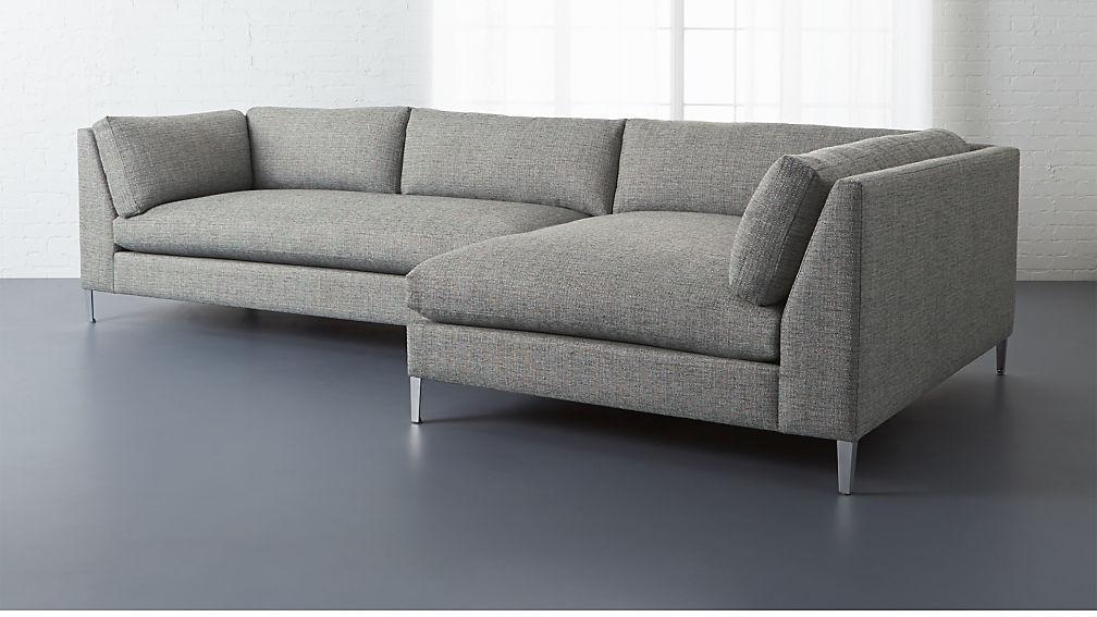 2 Pc Sectional Sofa Desmond 2 Pc Sectional Sofa Charcoal