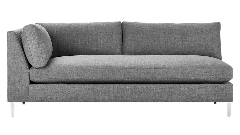 decker left arm sofa
