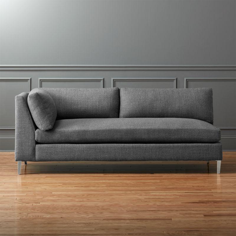 Decke Couch: Decker Left Arm Sofa Alpha: Granite