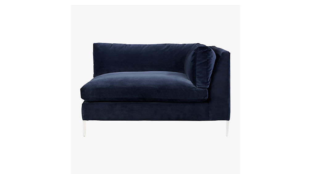 ... Decker Right Arm Blue Velvet Chaise ...  sc 1 st  CB2 : cb2 chaise - Sectionals, Sofas & Couches