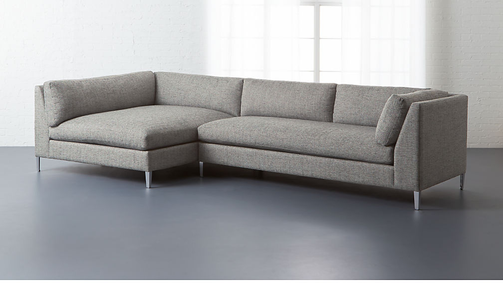 Decker Piece Large Grey Sectional Sofa CB - 2 piece sectional sofas