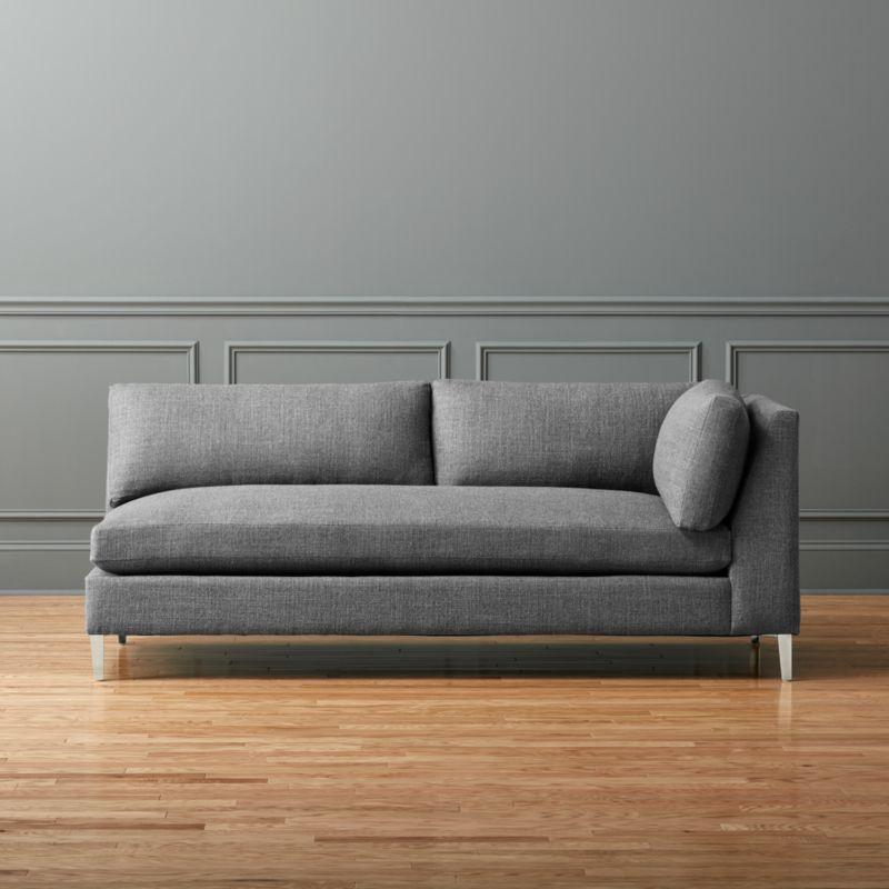 Decke Couch: Decker Right Arm Sofa Alpha: Granite