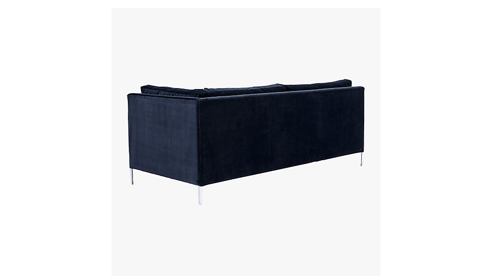 Decker Right Arm Blue Velvet Sofa