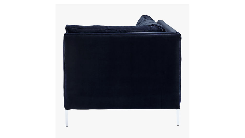Decker Right Arm Blue Velvet Sofa