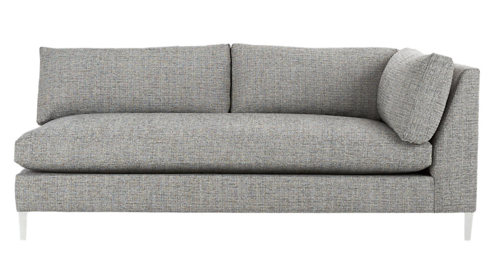 Decker 2 piece large grey sectional sofa reviews cb2 for Decker 2 piece sectional sofa