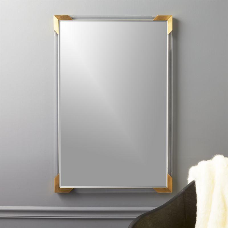 Demi Rectangle Acrylic Mirror 36 Quot Reviews Cb2