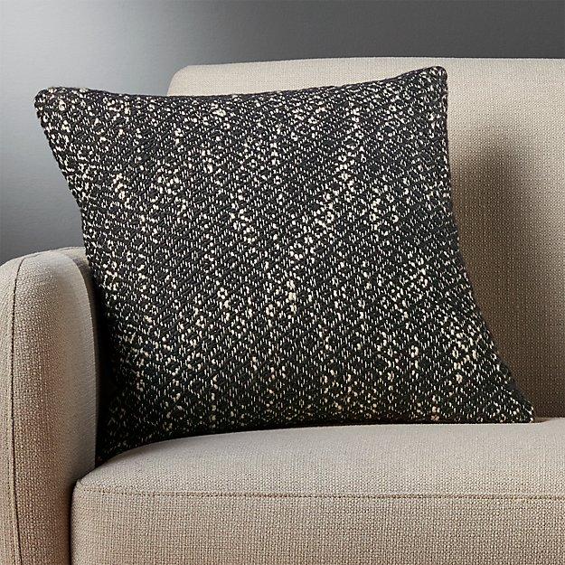 "18"" diamond weave dark grey pillow"