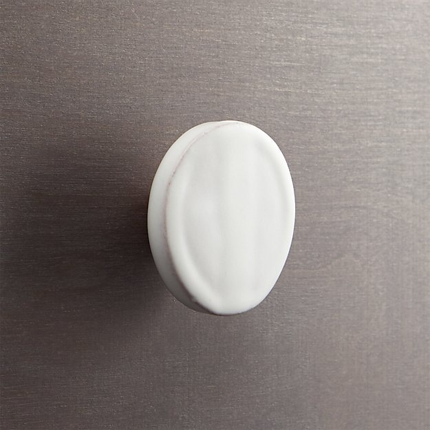 tempe white disk drawer pull