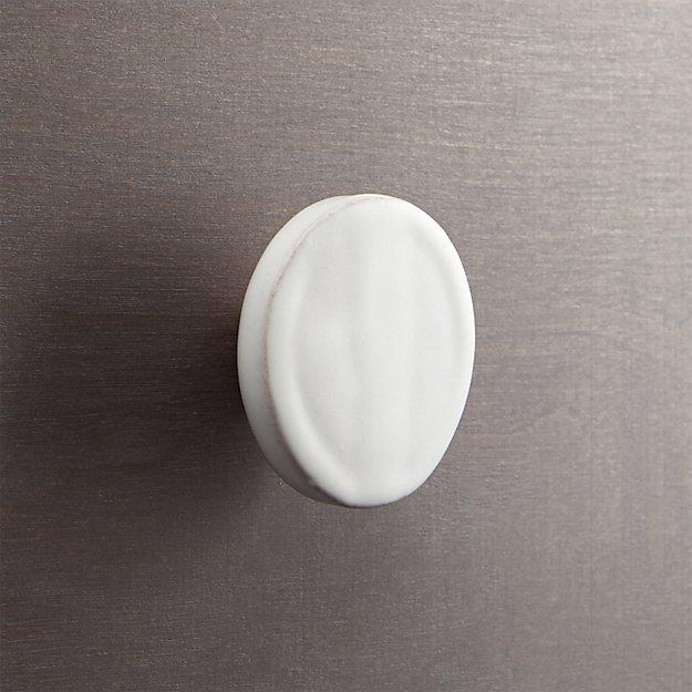 tempe white disk drawer pull