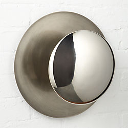 silver disc wall sconce