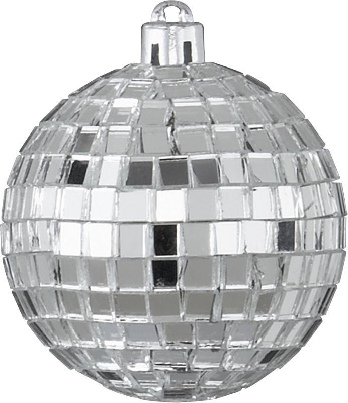 silver disco ball ornament