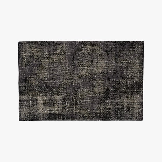 the hill-side disintegrated floral grey rug 5'x8'