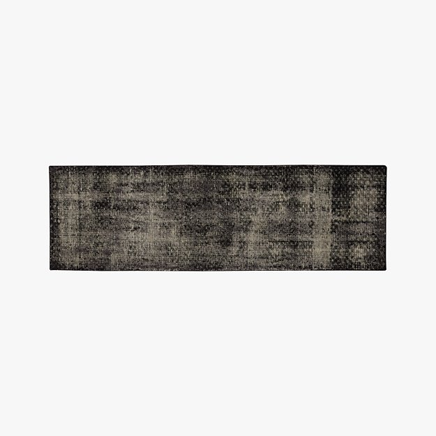 the hill-side disintegrated floral grey runner 2.5'x8'