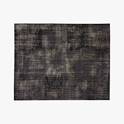 the hill-side disintegrated floral grey rug 8'x10'