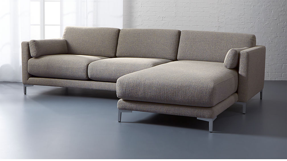 District 2 Piece Sectional Sofa Cb2