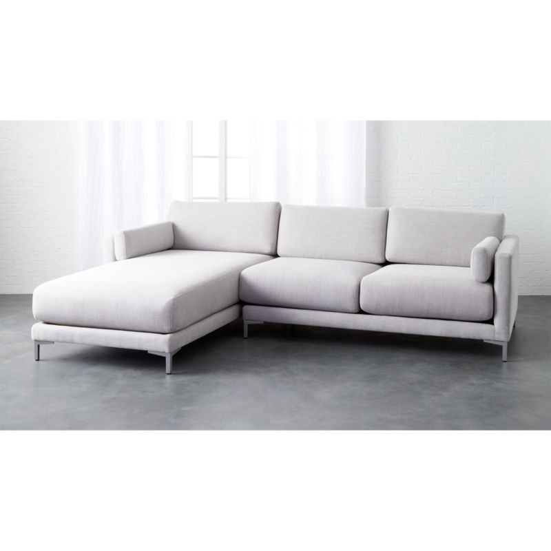 district 2piece grey microfiber sectional sofa CB2