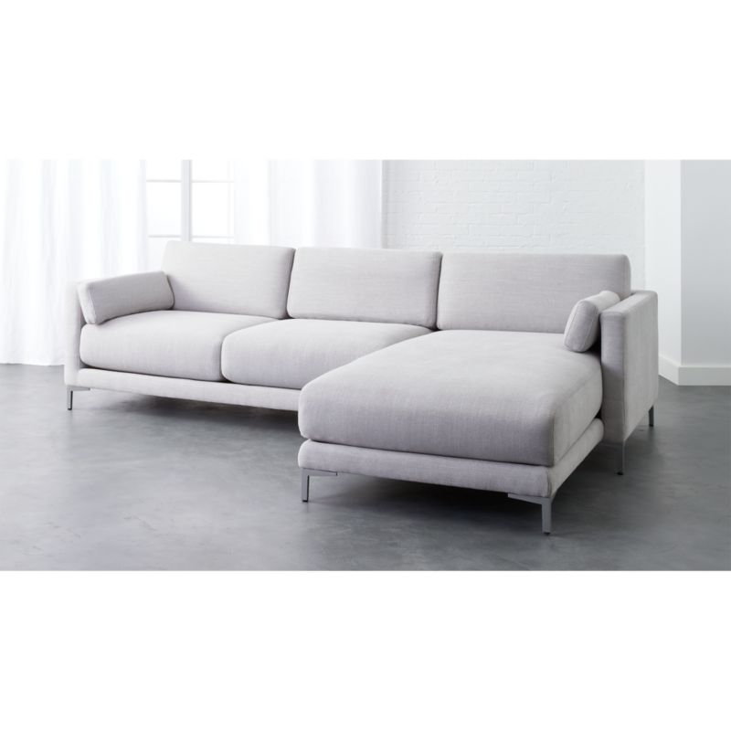 district microfiber sectional sofa CB2
