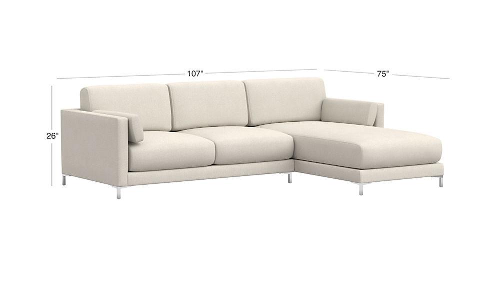 District Microfiber Sectional Sofa Cb2