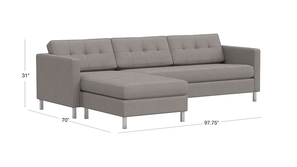 Ditto Ii Button Tufted Sectional Sofa Cb2