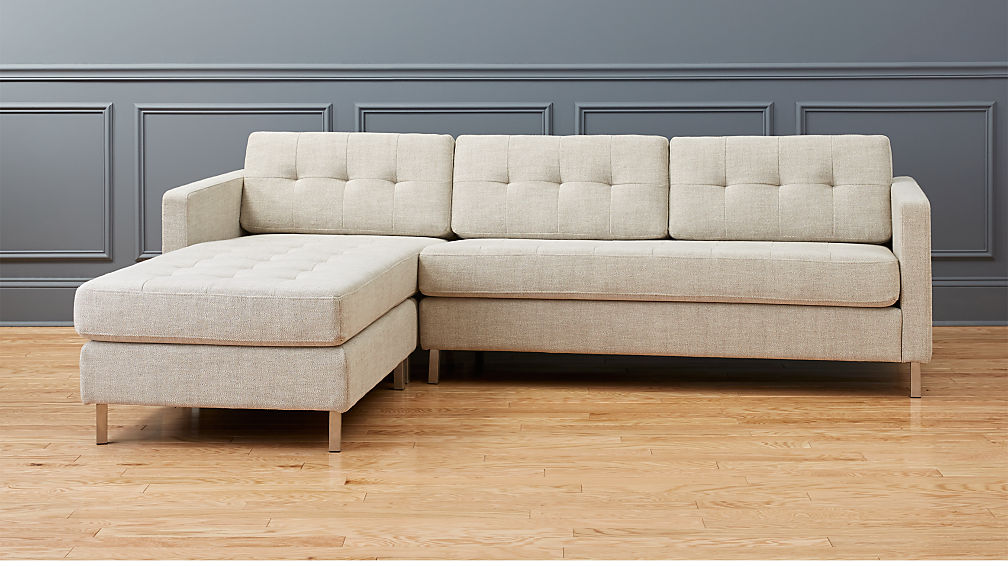 Tufted sectional sofa best 25 tufted sectional sofa ideas for Cb2 leather sectional