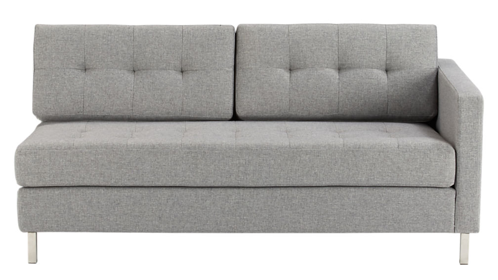 ditto II pewter sectional sofa