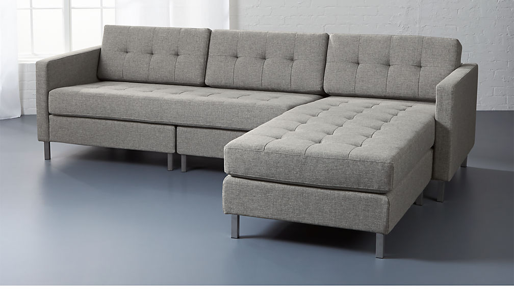 : grey tweed sectional sofa - Sectionals, Sofas & Couches
