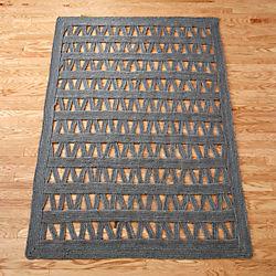 divide gray jute rug