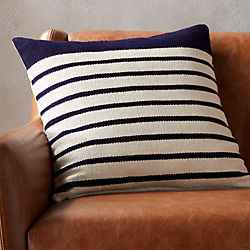 "20"" division navy pillow with down-alternative insert"
