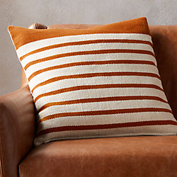 "20"" division rust pillow with down-alternative insert"