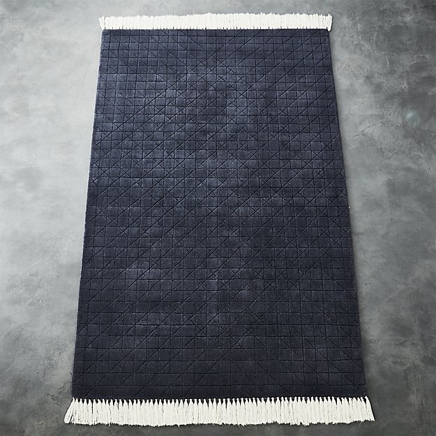 Divvy Dusty Indigo Blue Rug Cb2