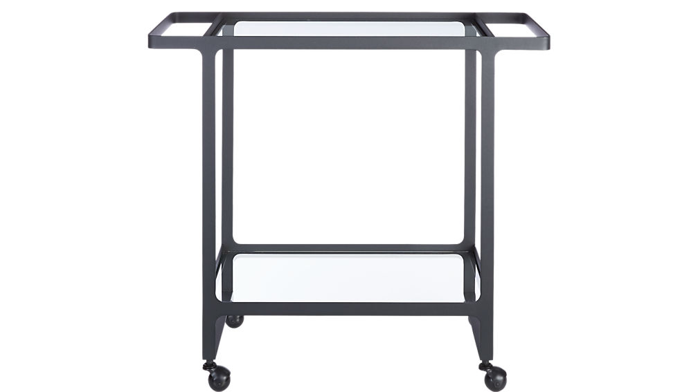 dolce vita outdoor bar cart on wheels cb2