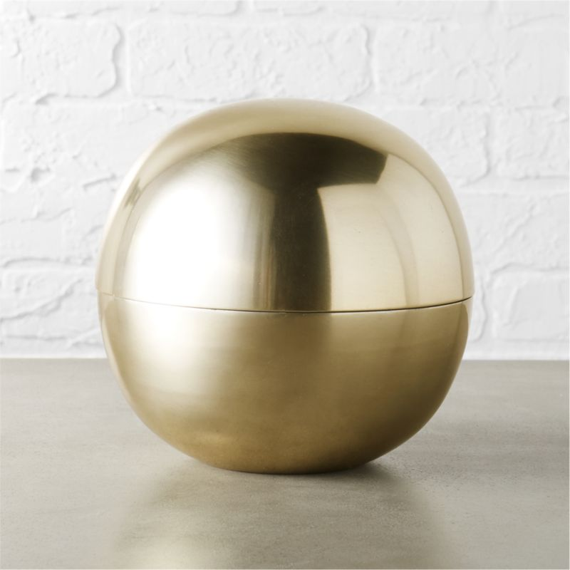 Dome Large Gold Storage by Crate&Barrel