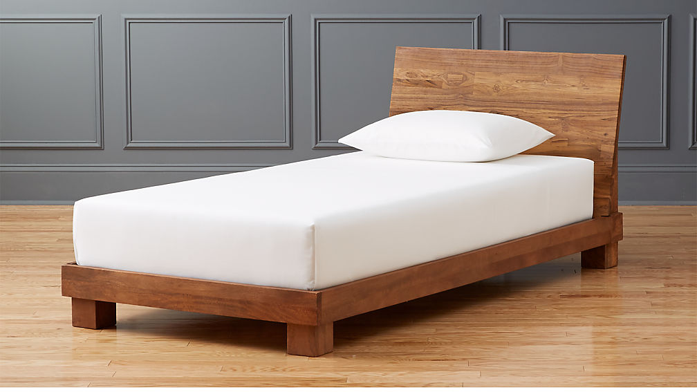 Dondra Teak Twin Bed Reviews Cb2