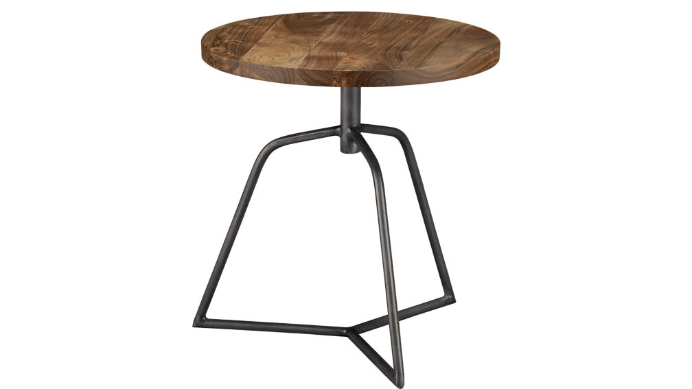 dot acacia side table-stool