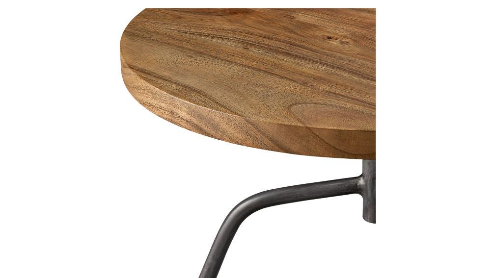 dot acacia side table-stool