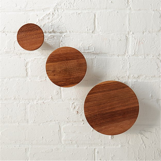 set of 3 dot coat hooks