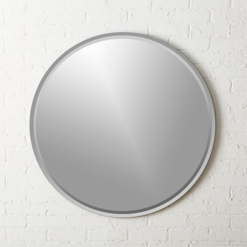 Superior Round Double Bevel Wall Mirror 36 Awesome Design